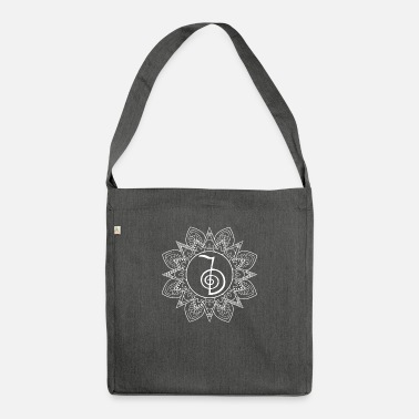 Sacred Geometry Reiki sacred geometry - reiki healing - theta - Shoulder Bag recycled
