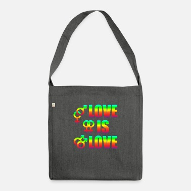 Varie Love Is Love Gay Lesbians Love Freedom - Borsa a tracolla riciclato