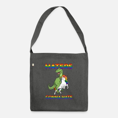Gay Pride LGBT Gay Pride TRex Dinosaur Tyrannosaurus Riding - Shoulder Bag recycled