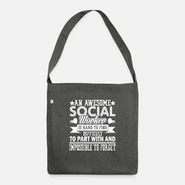 Love Social Worker Awesome Social Worker - Shoulder Bag recycled