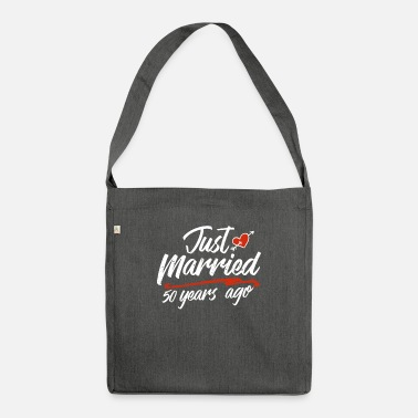 Gold Just Married 50 Year Ago Funny Wedding - Shoulder Bag recycled