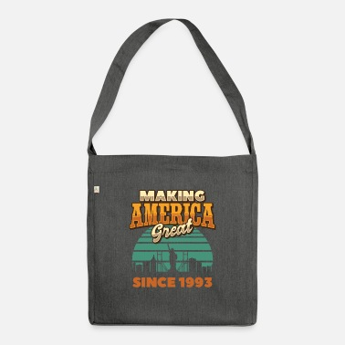 Anti Making America Great Since 1993 Vintage Birthday - Shoulder Bag recycled