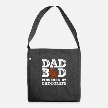 Dad Dad Bod Powered By Chocolate Father Figure Gifts - Shoulder Bag recycled