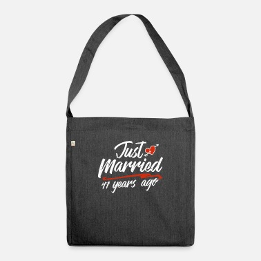 Gold Just Married 47 Year Ago Funny Wedding - Shoulder Bag recycled