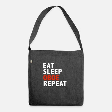 Padres Eat Sleep Oboe Repetir Oboe Player Oboist Music - Bolsa de tela reciclado
