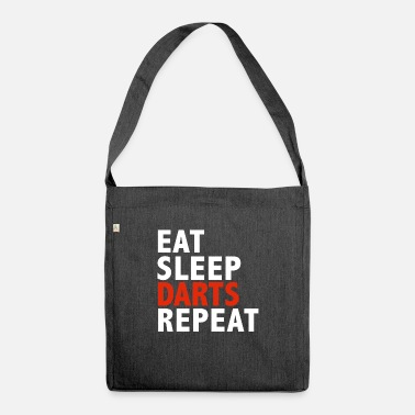 Together Eat Sleep Darts Repeat Darts Player Team - Shoulder Bag recycled