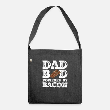 Happy Dad Bod Powered By Bacon Father Figure Gifts Idea - Shoulder Bag recycled