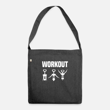Corkscrew Workout - wine - Shoulder Bag recycled