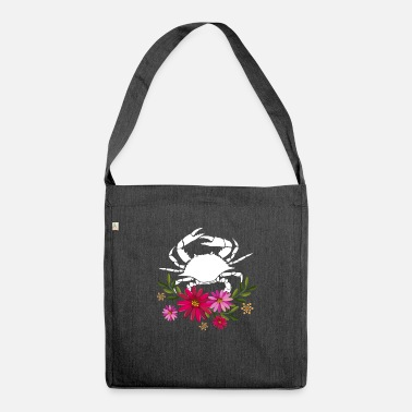 Love Crab With Flowers - Shoulder Bag recycled