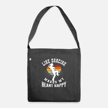 Rodeo Line dancing heart gift - Shoulder Bag recycled