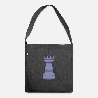 Drawing Chess Rook Piece - Shoulder Bag recycled
