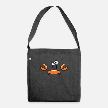 Crab Cartoon crab motif - Shoulder Bag recycled