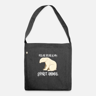 Frost Polar Bear Gift : Polar Bear is my spirit animal - Shoulder Bag recycled
