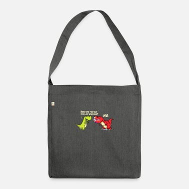 Tea Unicorn T-rex funny gift - Shoulder Bag recycled