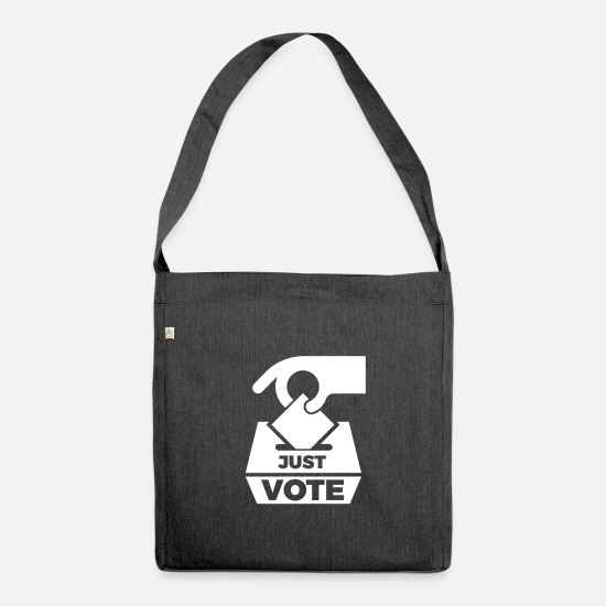 Friends Bags & Backpacks - Non Voting Gift for Midterm Election Campaigners - Shoulder Bag recycled heather black