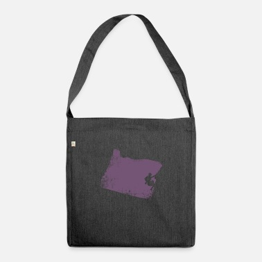 Rock Climbing Rock Climb Montana - Climbing - Shoulder Bag recycled