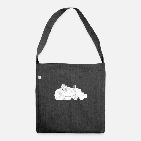 Gift Idea Bags & Backpacks - Tractor Pulling Tractor Pull Tractor Tractor - Shoulder Bag recycled heather black