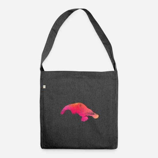Gift Idea Bags & Backpacks - Platypus poison - Shoulder Bag recycled heather black