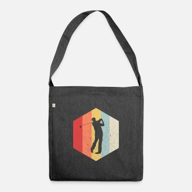 Putter Putter Putter Tee Ball Golf Gift Retro - Shoulder Bag recycled