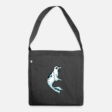 Seal-animal Funny seal - Shoulder Bag recycled