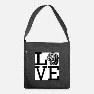 Love Hovawart dog dog owner dog saying Dog - Shoulder Bag recycled