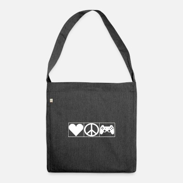 Leible Love, Peace and Gaming - Leibl Designs - Shoulder Bag recycled