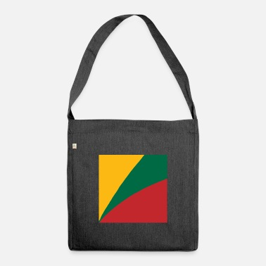 Lithuanian Flag Lithuanian flag gift idea - Shoulder Bag recycled