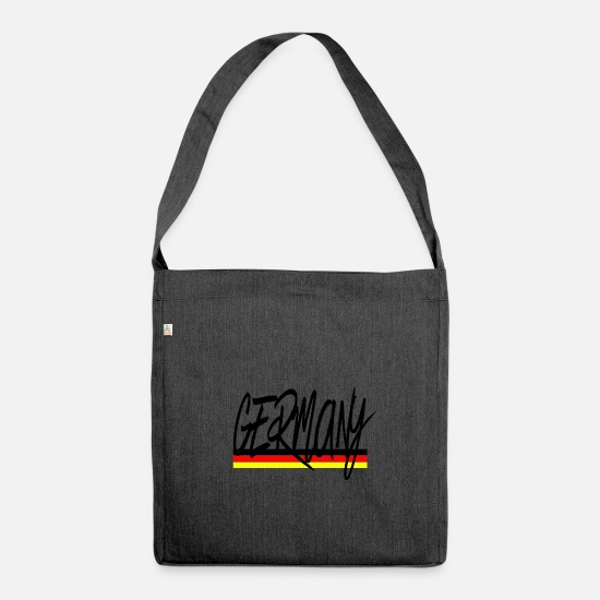 Flag Bags & Backpacks - germany - Shoulder Bag recycled heather black