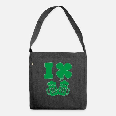 Irishwomen St Patrick's Day I Love Shamrock Beer - Shoulder Bag recycled