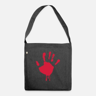 Bleed bleeding hand - bleeding hand - Shoulder Bag recycled