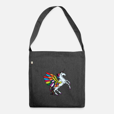 Fable flying unicorn fable - Shoulder Bag recycled