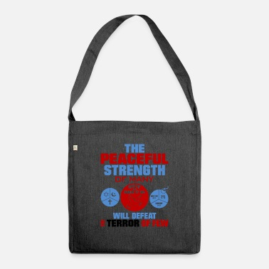 United against terrorism - Shoulder Bag recycled