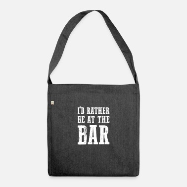 Bar Hop At The Bar gift for Bar Enthusiasts - Shoulder Bag recycled