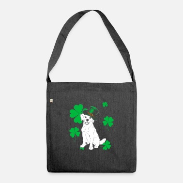 Ireland Golden Retriever St Patricks Day Gift - Shoulder Bag recycled