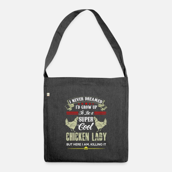 Humour Bags & Backpacks - Chicken_1 - Shoulder Bag recycled heather black