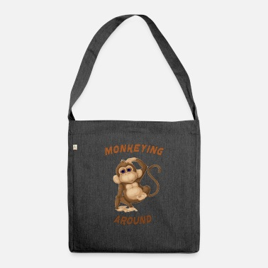 Around monkeying around - Shoulder Bag recycled