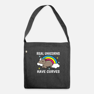 Overweight Unicorn Curves Rhino Overweight Sexy Gift - Shoulder Bag recycled