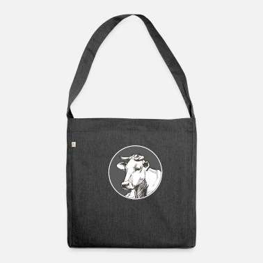 Cow Skull Cow Skull Cow Whispering Farmer - Shoulder Bag recycled