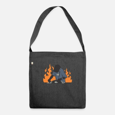 Dj boy on fire - Shoulder Bag recycled