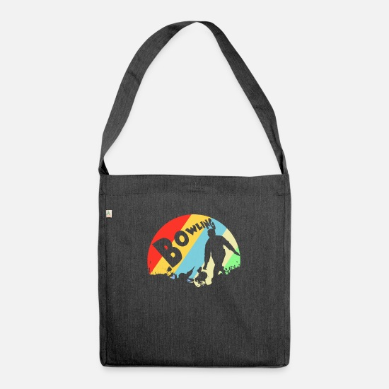 Bowling Club Bags & Backpacks - bowler - Shoulder Bag recycled heather black