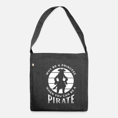 Princess Pirate Pirate gift princess pirate skull skull - Shoulder Bag recycled