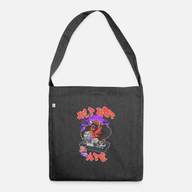 Dj Hip Hop Monkey Music Rap DJ Graffiti Animal Logo Quote - Shoulder Bag recycled