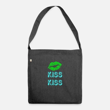 Kiss kiss kiss - Shoulder Bag recycled