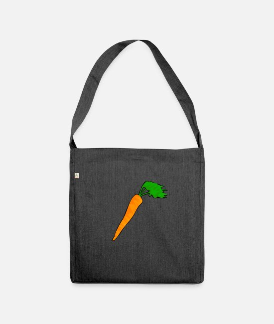 Garden Bags & Backpacks - carrot carrot garden vegetable harvest carrot turnip - Shoulder Bag recycled heather black