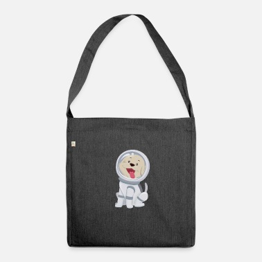 Astronaut Dog astronaut - Shoulder Bag recycled