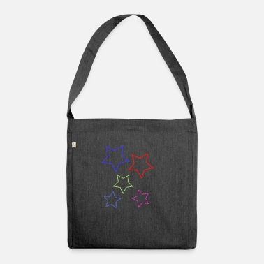 Celestial Bodies Star star celestial body gift idea - Shoulder Bag recycled