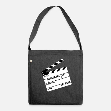 Illustration Klappe - clapperboard (writable flex) - Umhängetasche aus Recyclingmaterial