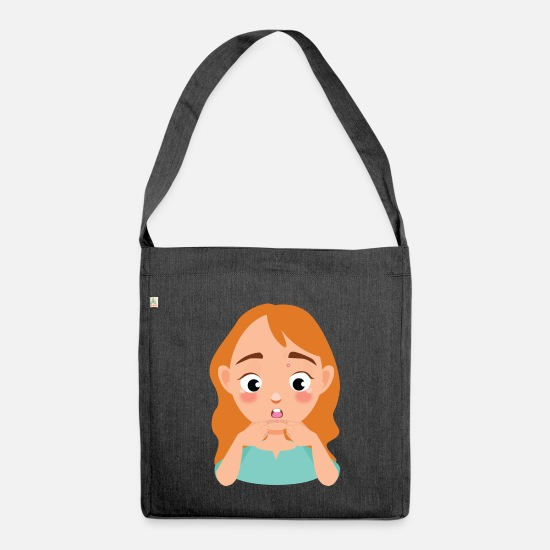 Birthday Bags & Backpacks - Express pimples - Shoulder Bag recycled heather black