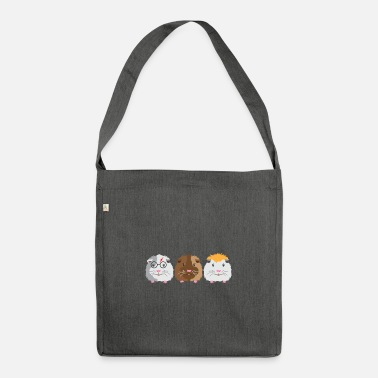 Three little Guinea pigs - Shoulder Bag recycled
