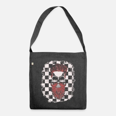 Rockabilly Hipster Skull - Shoulder Bag recycled